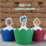 12x Bubble Guppies EDIBLE wafer stand up toppers PRE-CUT