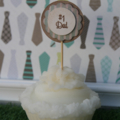 # 1 Dad Cupcake Topper ~ Christmas Topper ~ Father's Birthday