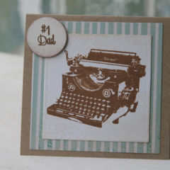 Dad Card Card for Dad's Birthday Typewriter Card