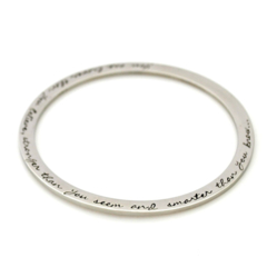 Message Bangle (assorted sizes) - Stainless Steel Handstamped Jewellery