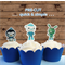 12x Octonauts EDIBLE cupcake cake toppers PRE-CUT stand up birthday