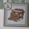 Christmas Card for Dad Birthday Card for Dad Dad's Birthday Typewriter Card