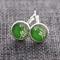 White Willow Green ~ Lever Back Earrings