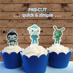 12x Octonauts EDIBLE cupcake cake toppers  stand up birthday