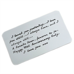 Handstamped Wallet Card Insert - Personalised gift for Dad