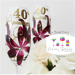 40th Ruby Anniversary Champagne Glasses by inaspinniquesway
