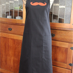 """OJ moustache"" is an individually named, handmade, deluxe gent's apron."