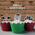 12x funny Christmas mix EDIBLE wafer stand up toppers PRE-CUT