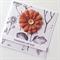 Thinking of You mocha brown burlap flower botanical paper sympathy friend card