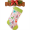 Personalised Christmas Stocking 'Nordic Holiday - Green Trim'  Michael Miller