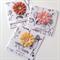 SET OF 3 cards botanical burlap flowers range birthday for you friend card