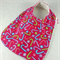 Christmas Baby Bib, Pink Cotton Cand Cane Fabric, Bamboo Toweling Backed.
