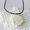 SKULL CANDY - cool skull pendant handmade in white resin
