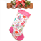 Personalised Christmas Stocking 'Nordic Holiday - Pink Trim'  Michael Miller