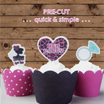 12x hens night EDIBLE wafer stand up toppers PRE-CUT