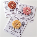 SET OF 3 cards botanical burlap flowers range birthday for you friend card