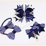 Bella 'School' Bow Pack - Gingham - Custom Made in school colors