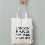 Choose Your Cities- Canvas Tote Bag - Subway art tote - Travel Bag - Canvas Bag