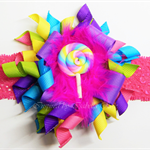 Rainbow Bella 'Candy' Headband (pink band)