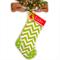 Personalised Christmas Stocking 'Apple Green Chevron'