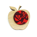 Kimono Apple Brooch - Red and Black