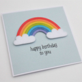 Rainbow Birthday Card - can be personalised