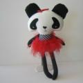 Black and White Panda Softie Doll