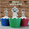 12x Toy Story EDIBLE wafer stand up toppers PRE-CUT