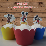 12x Mickey Mouse full body EDIBLE wafer stand up toppers