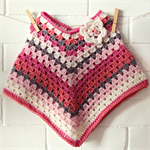 crochet wool poncho | baby toddler girl | winter