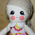 Pink and orange doll