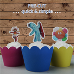12x In the Night Garden EDIBLE wafer stand up toppers PRE-CUT