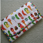 Travel Change Mat with Nappy and Wipe Holder - Very Hungry Caterpillar
