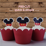 12x Mickey Mouse ears plain EDIBLE wafer stand up toppers PRE-CUT