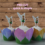 12x Tinkerbell EDIBLE wafer stand up toppers PRE-CUT