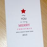 Modern Christmas card - typography tree !