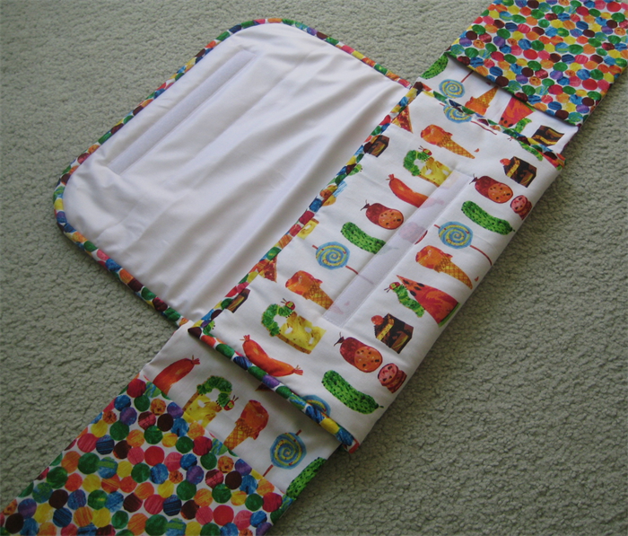 Travel Change Mat With Nappy And Wipe Holder Very Hungry