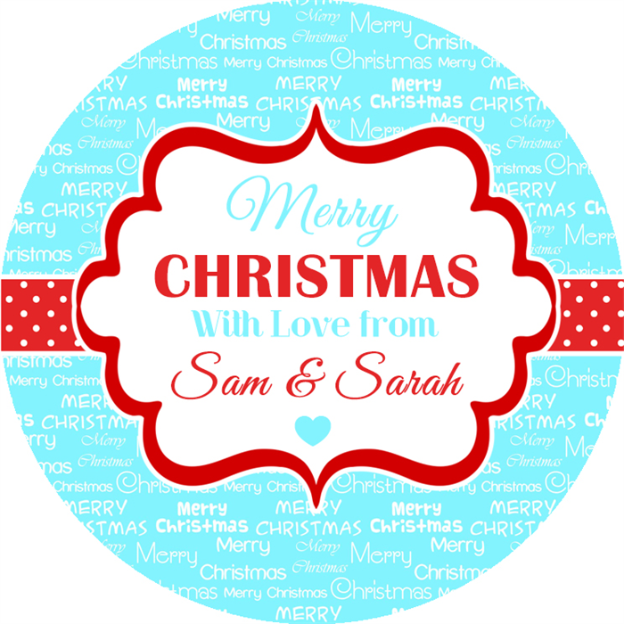 Personalised christmas wrapping paper stickers labels tags for gifts