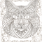 Cat Themed Adult Colouring Pages