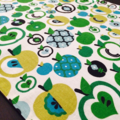 Retro Apple table runner. Add character to your dining table or outdoor table.