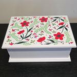 Handpainted keepsake box - spring floral design