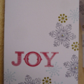 BUlk 4 Christmas JOY Handmade Card
