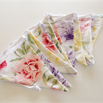 Pastel floral bunting,spring country wedding decor, shabby cottage chic,
