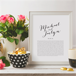 PRINTABLE Wedding Vows Keepsake Print for Newlyweds & Anniversaries -Calligraphy