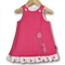 SIZE 0 Candy Pink Corduroy Applique Embroidered Pinafore - Balloon Bunnie