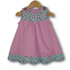 ON SALE... SIZE 00 Scallop boarder baby dress
