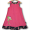 SIZE 4 Candy Pink Corduroy Applique Embroidered Pinafore - Bird House