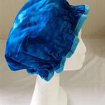 Shower Cap - Adults, blue tie dye