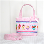 Mini Tote Bag & Matching Knot Headband for Little Girls - 