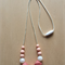 SALE!!Price dropped!! Silicone Necklace -Rose in Blush & Metallic-